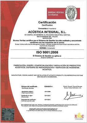 AC�STICA INTEGRAL | ISO 9001:2008