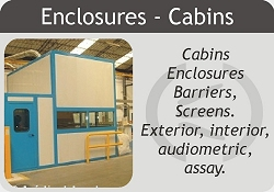 Cabins acoustic, acoustic enclosures, audiometric booths.