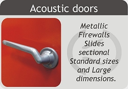 Metal acoustic doors, acoustic doors and firewalls, acoustic doors acoustic door sectional and large.