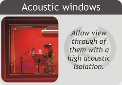 Acoustic windows to see through them with a high acoustic performance