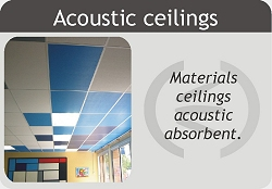 Absorbent acoustic ceilings. Conducting materials and absorbent acoustic ceilings.