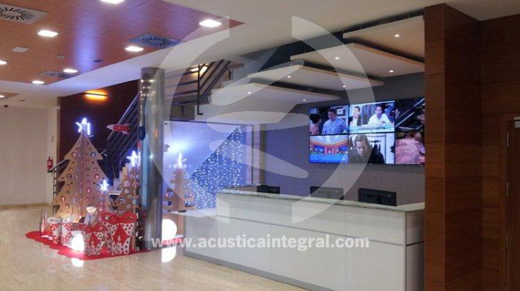 paneles acústicos con luz incorporada