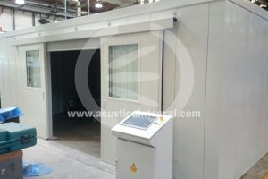 Acoustic Enclosure with Sliding Doors